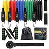 WOFALA Resistance Bands Set – 12 PCS Exercise Bands with Handles – Workout Bands Stackable up to 150lb – Door Anchor and…