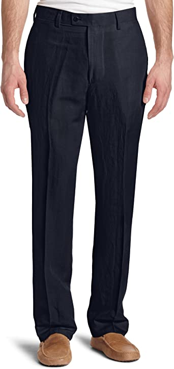Louis Raphael Mens Modern Fit Flat Front Pattern Dress Pant
