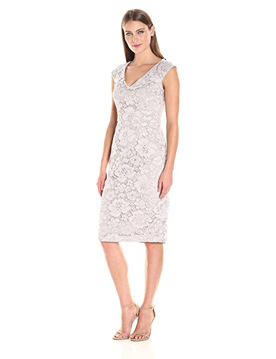 4122585cbe2 Maggy London Women s Rose Garden Lace Sheath with Faille Back at Amazon  Women s Clothing store