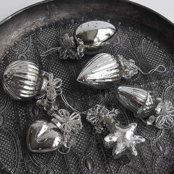 Exner Anhanger Antik 6 Er Set Bauernsilber Silber Vintage