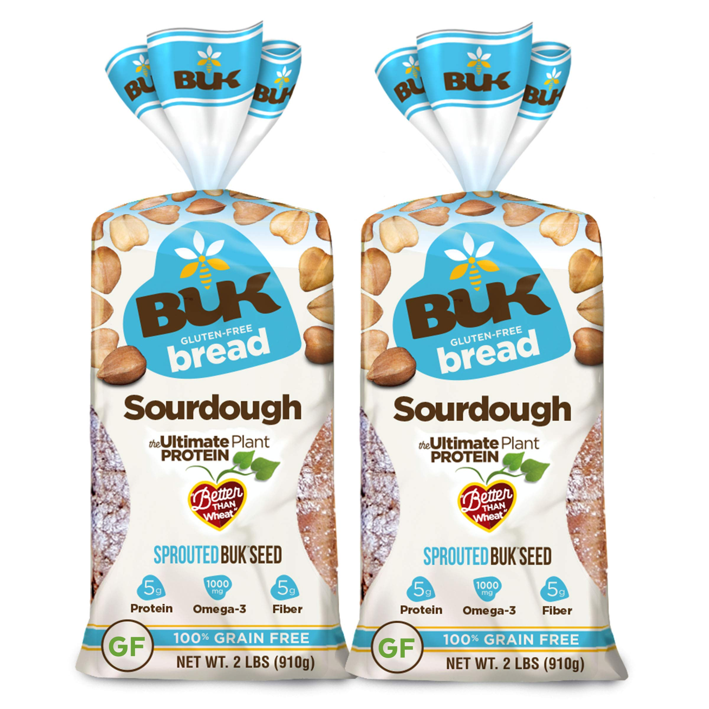 BUK Sourdough Sprouted Gluten Free Bread (2 loaves, 32 oz each) by BUK foods