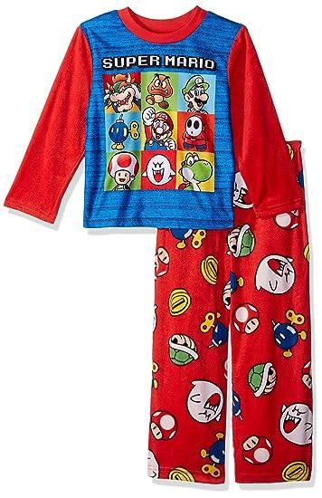 81e80b18c Super Mario Brothers Juego de Pijama de Forro Polar de 2 Piezas para niños