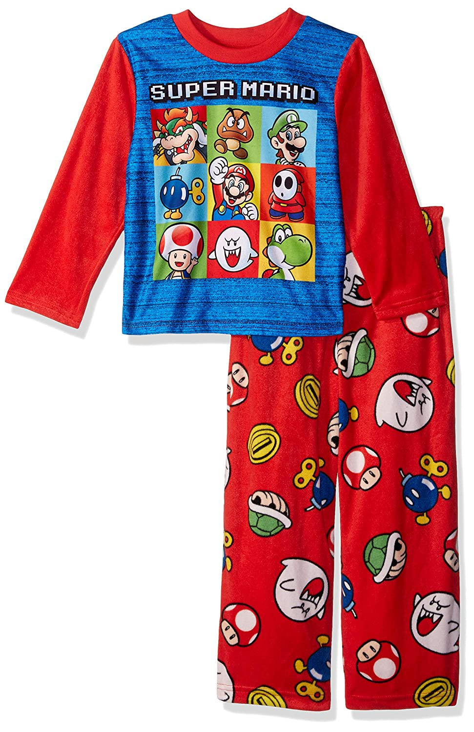 Super Mario Brothers Boys' Nintendo 2 piece Fleece Pajama Set