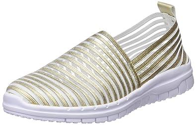 XTI Damen 48059 Slip on Sneaker, Gold, 41 EU