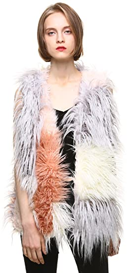vogueearth Women  Classic Faux Fur Lamb Autumn Winter Vests Multicoloured  at Amazon Women s Coats Shop 5ad5e10813