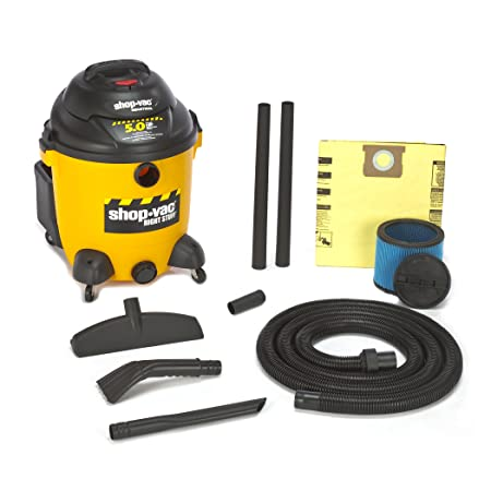 Shop-Vac 9625110 5.0-Peak Horsepower Right Stuff Wet Dry Vacuum, 12-Gallon