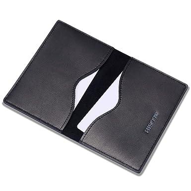hiscow minimalist thin bifold card holder italian calfskin - Bifold Card Holder