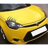 YGMONER Black False Eyelashes Sticker Car Headlights Decal