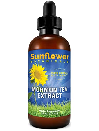 Sunflower Botanicals Mormon (Brigham) Tea Extract, 2 oz  Glass Dropper-Top  Bottle, Vegan,