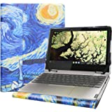 """Alapmk Protective Case Cover for 11.6"""" Lenovo Chromebook C340 C340-11/Lenovo Chromebook Flex 3i/Lenovo IdeaPad Flex 3 11IGL05 Laptop[Not fit Lenovo Chromebook C340-15/Chromebook C330-11],Starry Night"""