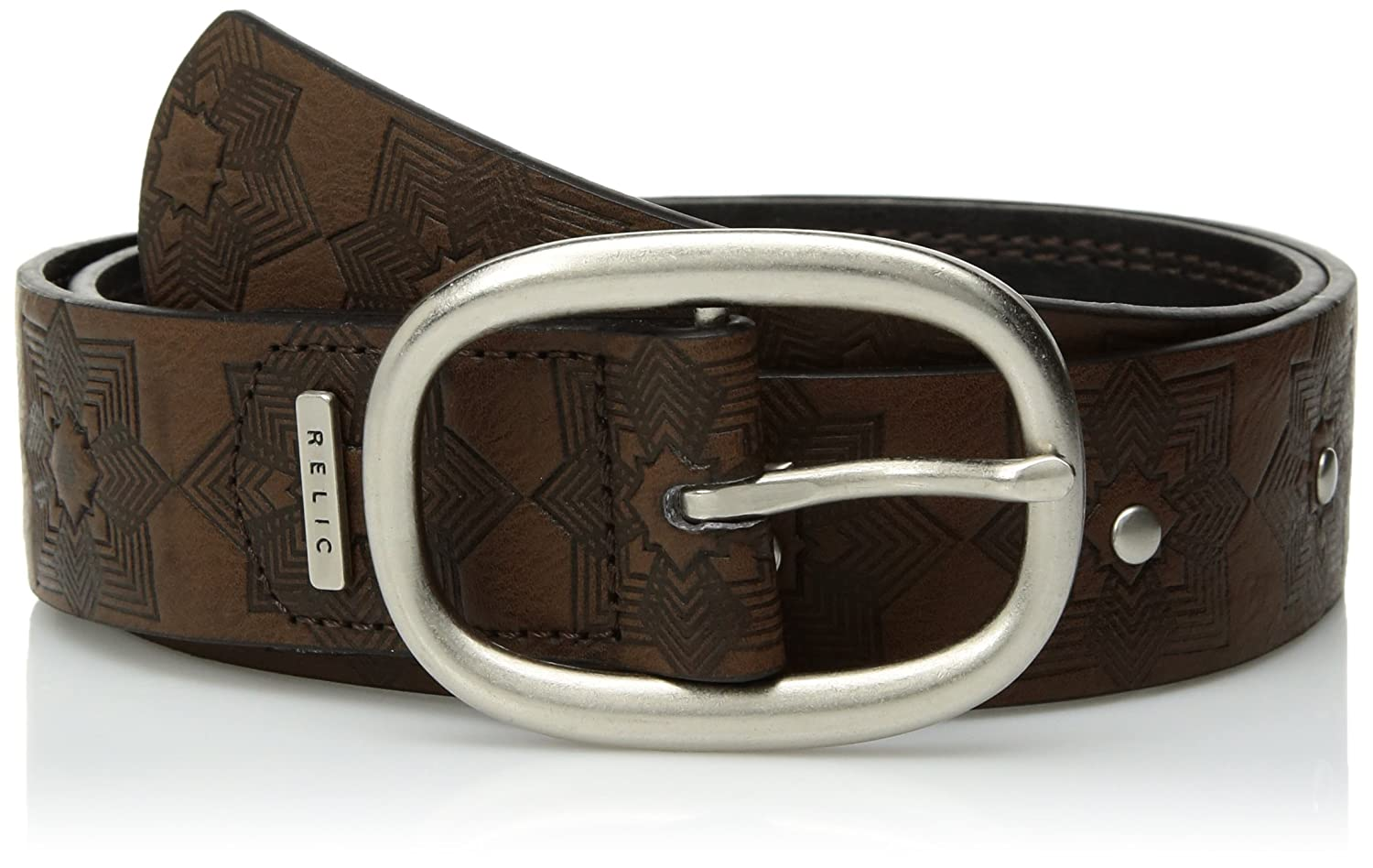 Relic Womens Geo Flower Embossed Reversible Belt RLJ5703914