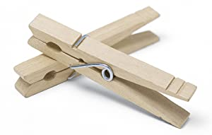 Whitmor Set of 50 Wooden Clothespins, S/50