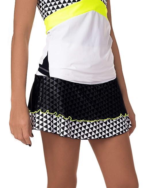 Falda de Padel o Tenis IDAWEN. Cintura Alta, Tejido de compresión Que Recoge tu Cintura
