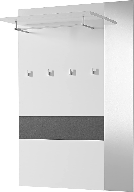 Germania 3317-110 Garderobenpaneel GW-Alameda in Anthrazit Weiß, 100 x x x 149 x 26 cm (BxHxT) 46fe41
