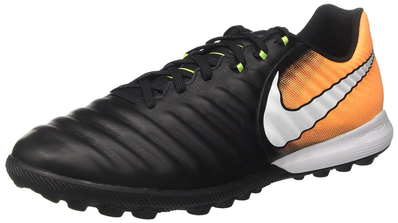 Nike Herren Tiempox Finale TF Fuszlig;ballschuhe  40 EU|Schwarz (Black/White-laser Orange-vert Volt-black)