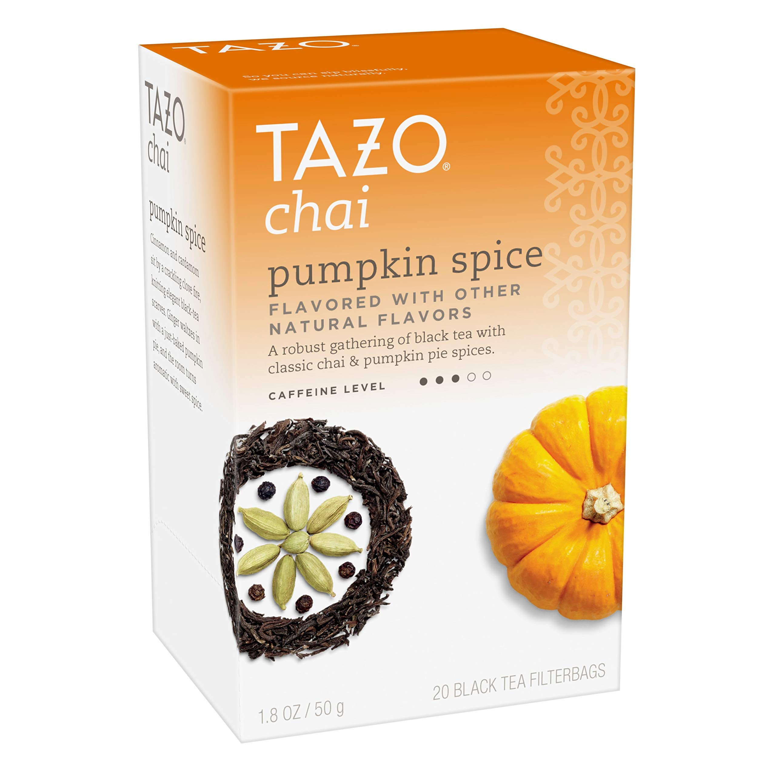 Tazo Chai Pumpkin Spice Tea 20 ct (Pack of 1) (Pack of 12)