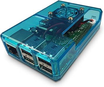 GorillaPi Blue Raspberry Pi 3 y Raspberry Pi 2 Case Modelo B (y B ...