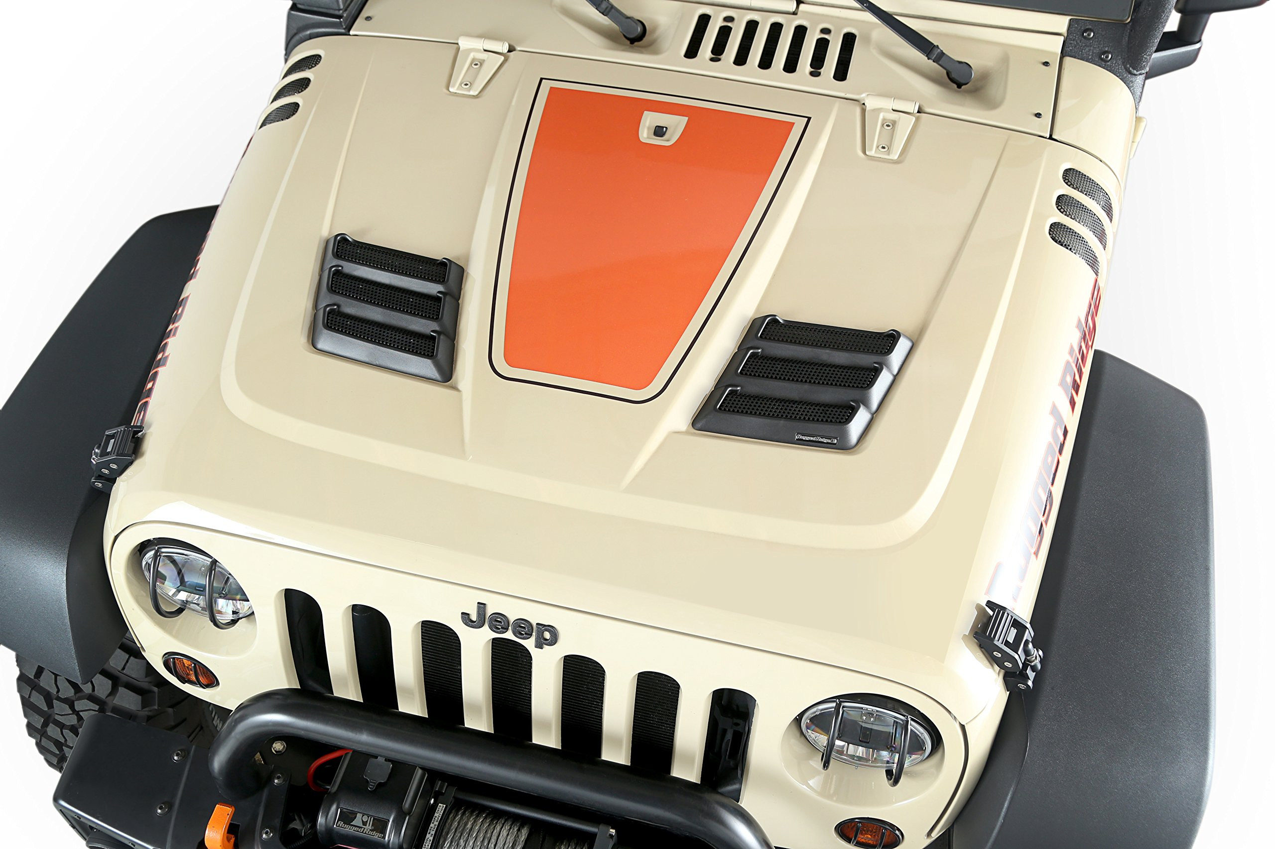 Rugged Ridge 17759.09 Black Performance Hood Vent for Jeep JK Wrangler by Rugged Ridge (Image #5)