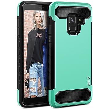 BEZ Funda Samsung A8 2018, Carcasa Compatible para Samsung Galaxy A8 2018, Ultra Híbrida Gota Protección, Cover Anti-Arañazos con Absorción de Choque ...