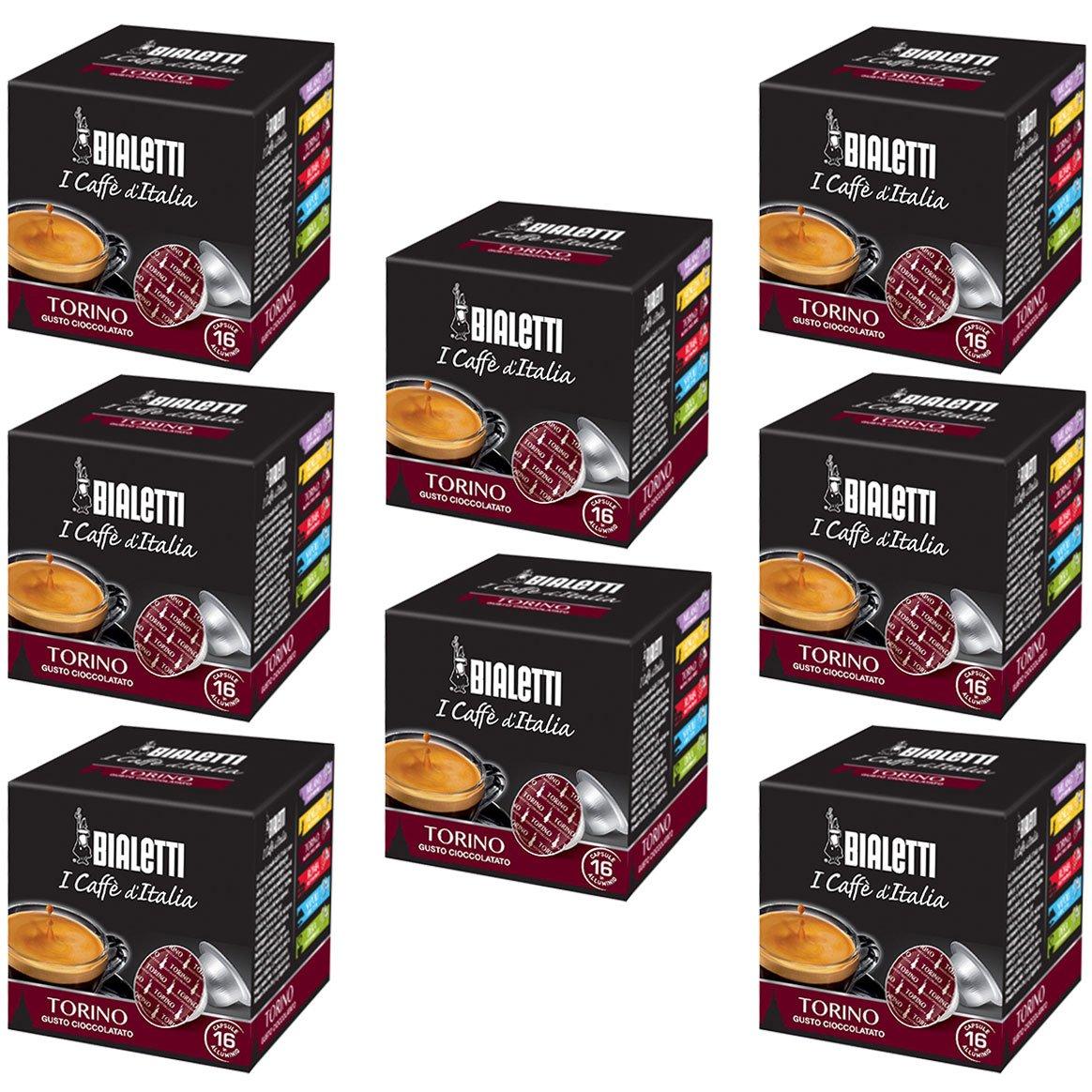 Bialetti Torino Espresso Capsules, 128 Count
