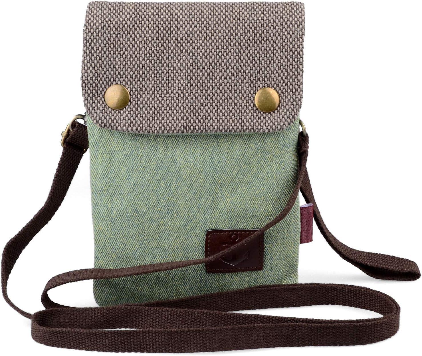 "Katloo Women Mini Cute Crossbody Bag Wristlet Cellphone Wallet Purse Loose Change Pouch for 5.5"" Smartphone Cards Clutch Handbag with Shoulder Strap Nail Clipper"