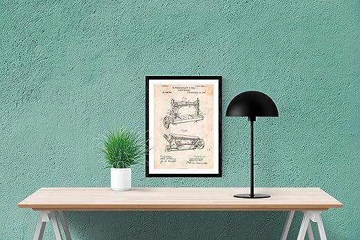 Nacnic Poster de Patente de Maquina de Coser. Lámina para enmarcar ...