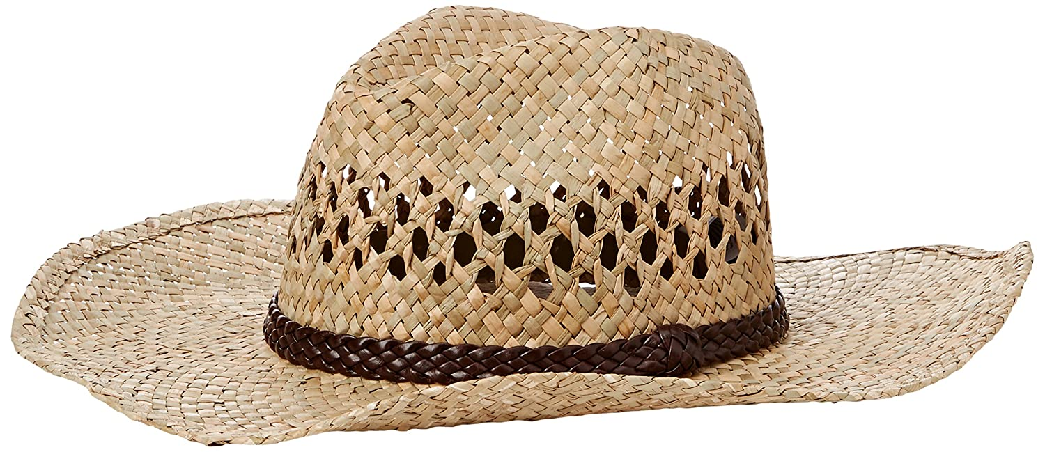 New Look Women's PU Band Plain Cowboy Hat Beige (Stone) One Size 3684424