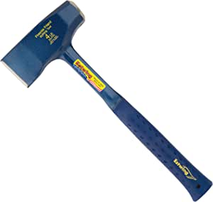 "Estwing Fireside Friend Axe - 14"" Wood Splitting Maul with Forged Steel Construction & Shock Reduction Grip - E3-FF4"