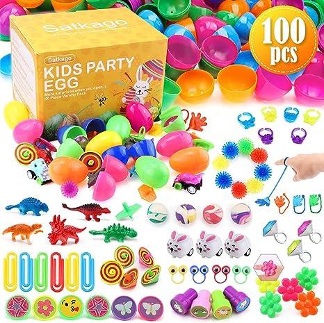 Satkago 100 uds Huevos de Pascua de Juguete, Huevos de Plástico de ...