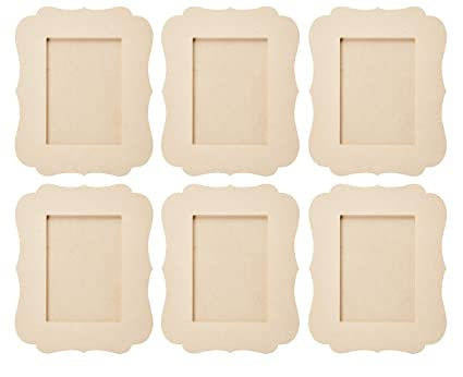 Amazon.com - Unfinished Wood Frame - 6-Pack Wooden Picture Frame ...