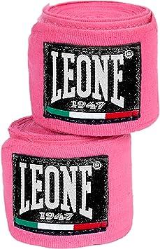 LEONE 1947 AB705 - Vendas de Boxeo, Color Rosa, tamaño 2,5m: Amazon.es: Deportes y aire libre