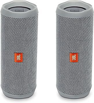 Pair JBL Flip 4 Portable Waterproof Bluetooth Speaker Gray