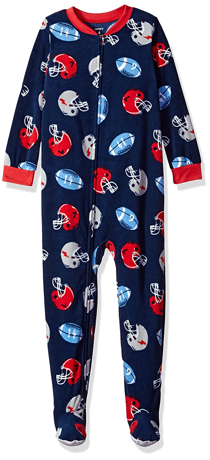 Carter's baby-boys Baby 1 Piece Fleece Sleepwear Football 18 Months Carters 327G109