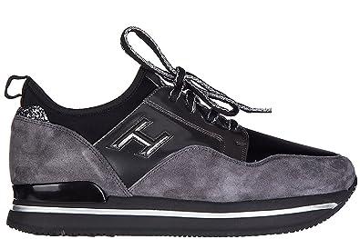 97b6770acc7019 Hogan Damenschuhe Turnschuhe Damen Wildleder Schuhe Sneakers h222 Grau EU  36.5 HXW2220V620EBUKG56
