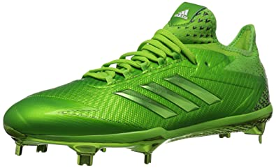 huge discount 1374f bd80f adidas Mens Adizero Afterburner 4 Baseball Shoe, semi Solar Green, FTWR  White, 6.5