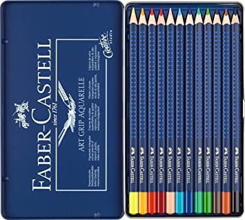 A W Faber Castell Tin Of 12 Colored Aquarelle Pencils Amazon Ca