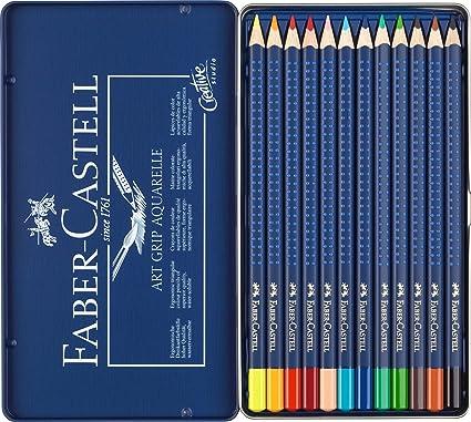 Faber-Castell 114212 - Estuche de metal con 12 ecolápices ...
