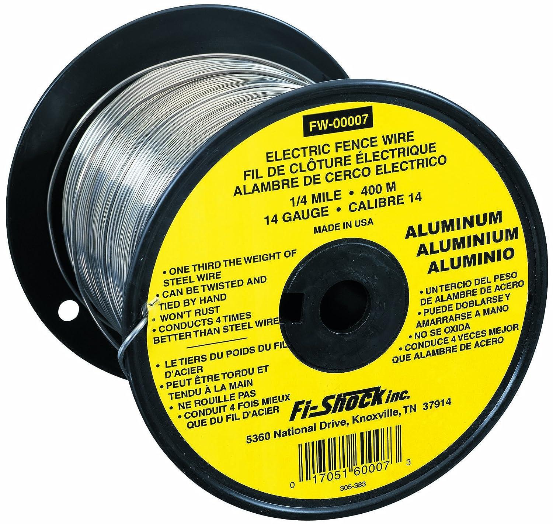 Amazon.com: Fi-Shock FW-00007T 1/4 Mile, 14 Gauge Spool Aluminum ...