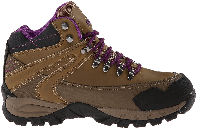 Pacific Trail Women's Rainier Waterproof Hiking Boot B00LCUOW3S 9 B(M) US|Smokey Brown/Black/Purple