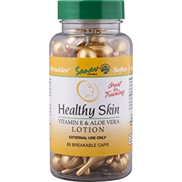 Healthy Skin Vitamin E & Aloe Vera Lotion, 60 Breakable Capsules (3 Pack)