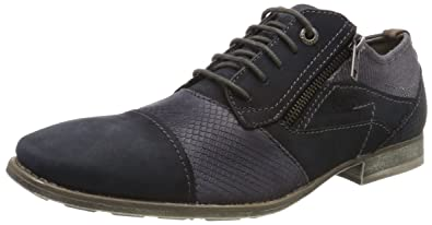 Mens-Lace-Up Schwarz 650503-1