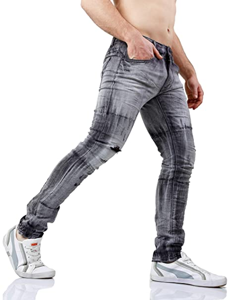 5d1ea4f8f691 Instinct Jeans Uomo Classici Slim Regular Ripped Fit - Vari Modelli   Amazon.it  Abbigliamento