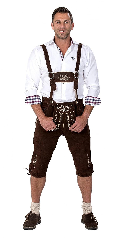 Almwerk Herren Trachten Lederhose Kniebund Modell Hipster