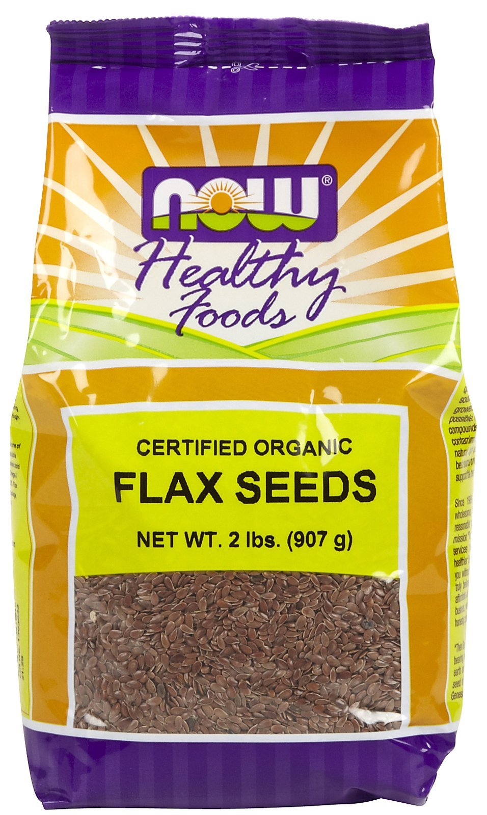 Flax Seeds, Brown, Organic 2 lbs ( Multi-Pack)