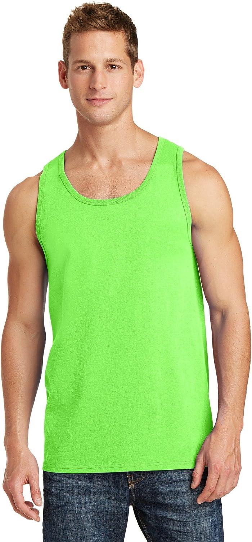 Port & Company Core Cotton Tank Top. PC54TT Neon Green L