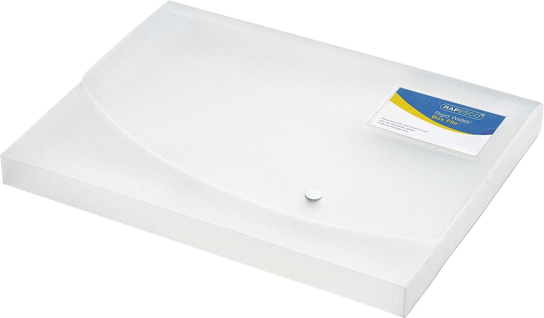 Rapesco Documentos - Caja de archivo A4, 25mm de ancho, transparente.