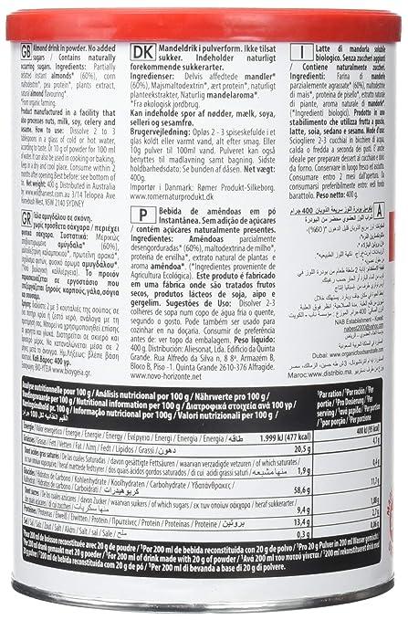 ijsalut - leche almendra polvo eco s/a nutriops 400grs: Amazon.es: Salud y cuidado personal