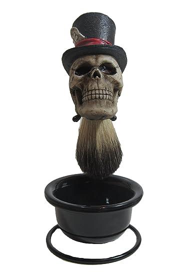 amazon com custom lucky 13 top hat skull badger hair shave brush