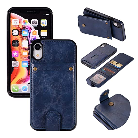 0b1bc6606595 iPhone 8/iPhone 7 Wallet Case with 6 Card Holder, Detachable Leather Hynice  Purse for Women Men with Kickstand Credit Slots Shockproof Slim Cover Flip  ...
