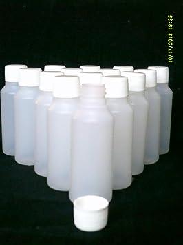 20 botellas de plástico vacías de 50 ml + tapa de rosca ideal para ...